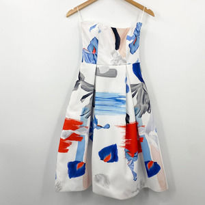 Nicholas Sleeveless Floral Ball Dress with Pockets